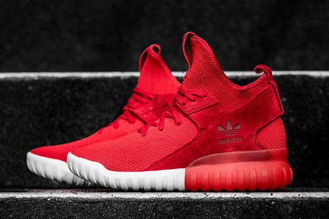 adidas Tubular X Primeknit Scarlet Red   SneakerFiles