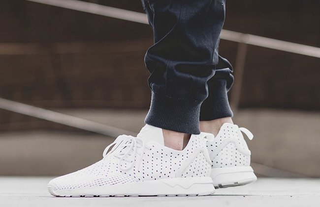 best website 248ce 3a4de adidas ZX Flux ADV ASYM Primeknit Crystal White | SneakerFiles