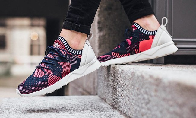 53751a088 adidas ZX Flux ADV Virtue Primeknit Shock Red new - molndalsrev.se