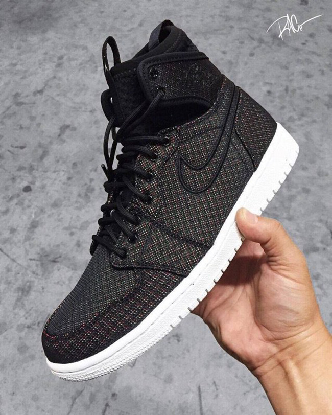 Air Jordan 1 Extended Ankle Collar Black