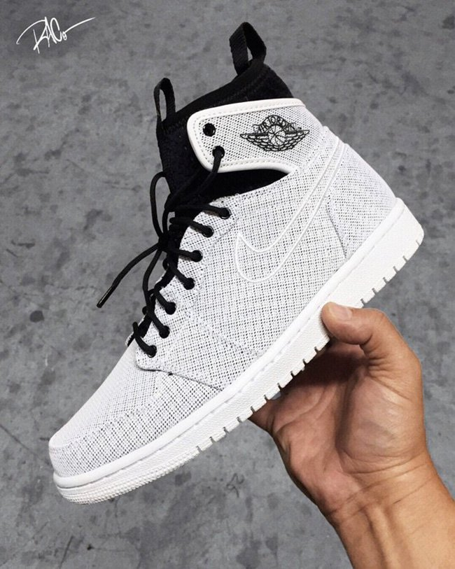 Air Jordan 1 Extended Ankle Collar White Black
