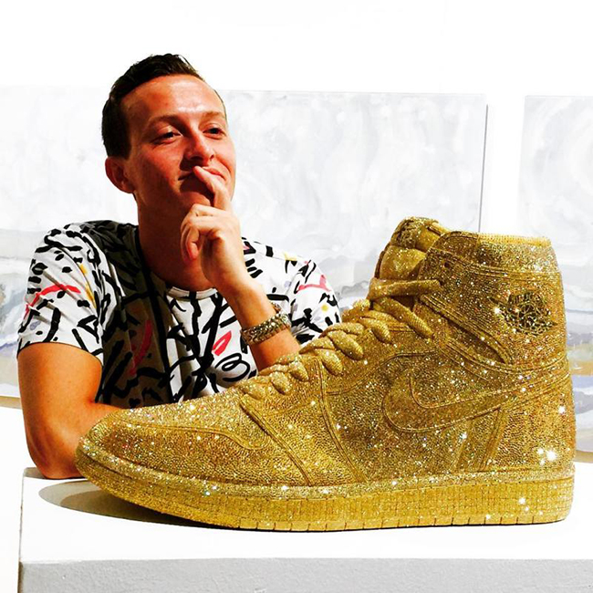 Air Jordan 1 Gold Crystal Daniel Jacob