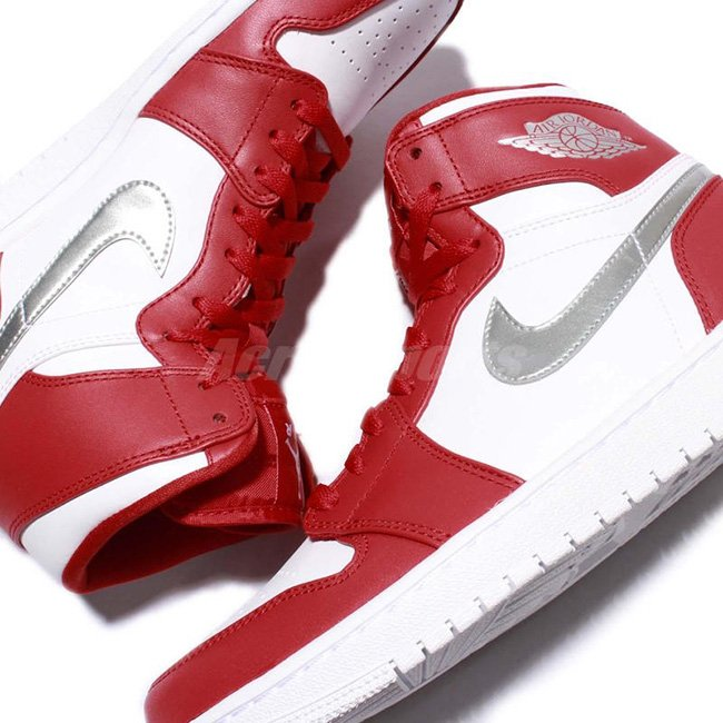 low priced 65ed5 38ec3 Air Jordan 1 High Olympic Gym Red Silver White