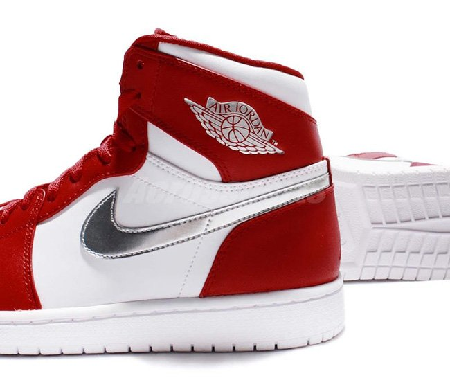Air Jordan 1 High Olympic Gym Red Silver White
