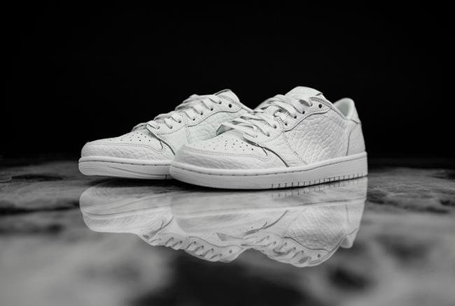 Air Jordan 1 Low No Swoosh White July 2016