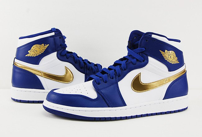 Air Jordan 1 Retro High Gold Medal Olympic USA Review On Feet b62f91484773