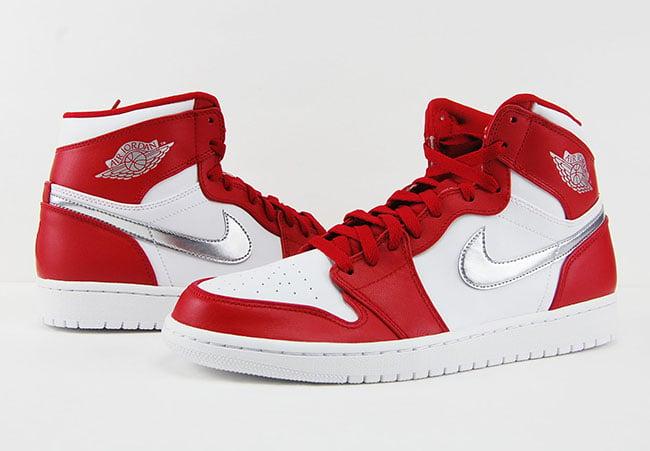 Air Jordan 1 Retro High Silver Medal USA Olympics Gym Red Review On Feet