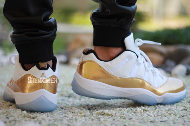 Air Jordan 11 Low Closing Ceremony On Feet