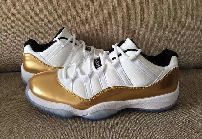 Air Jordan 11 Low White Gold Olympic