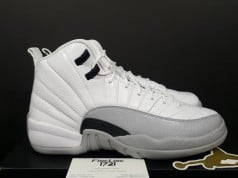 Air Jordan 12 Retro GS White Black Wolf Grey Barons