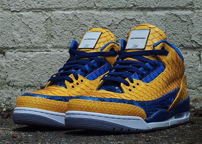 Air Jordan 3 Golden State Warriors Python Custom