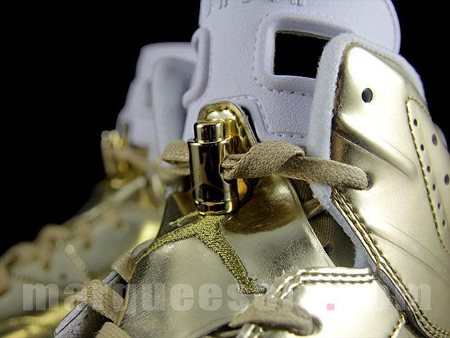 Air Jordan 6 Metallic Gold Pinnacle