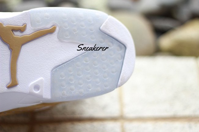 Air Jordan 6 Pinnacle Gold On Feet