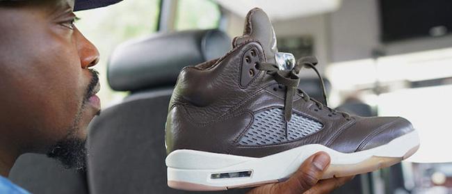 Anthony Hamilton Air Jordan 5 Brown Leather