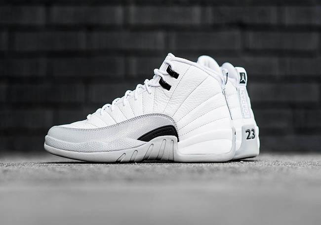 Barons Air Jordan 12 GS White Black Grey