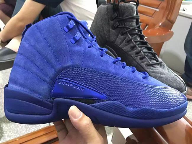 Blue Air Jordan 12 Premium Suede