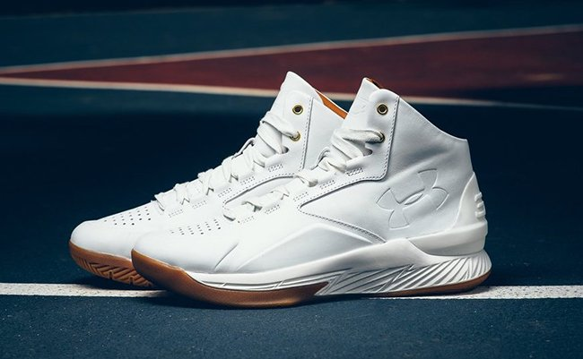 Curry Lux White Leather