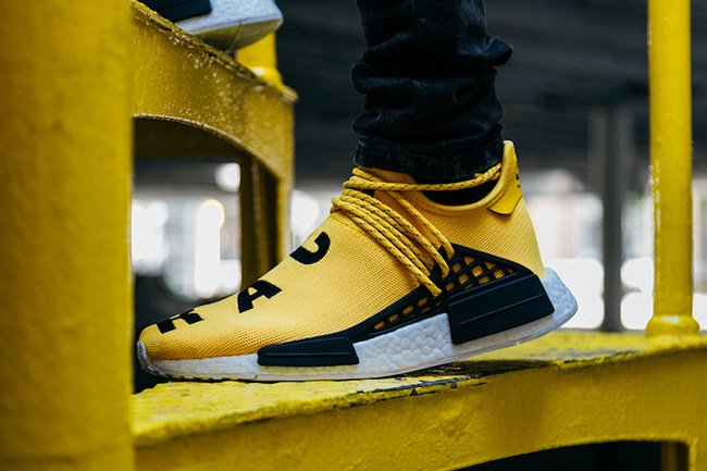 Pharrell x adidas NMD Hu PW Human Race Yellow Men's Size 6