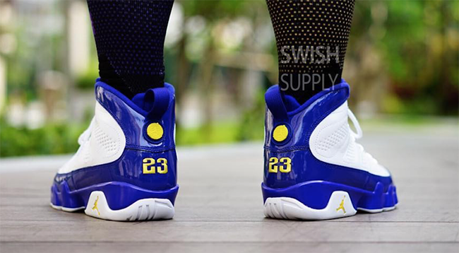 best service 5801f 47c60 Kobe Air Jordan 9 Lakers On Feet