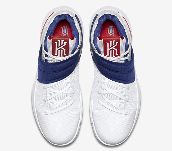 Kyrie 2 USA White Red Blue