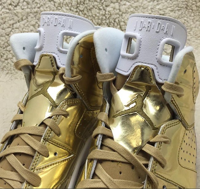 Metallic Gold Air Jordan 6