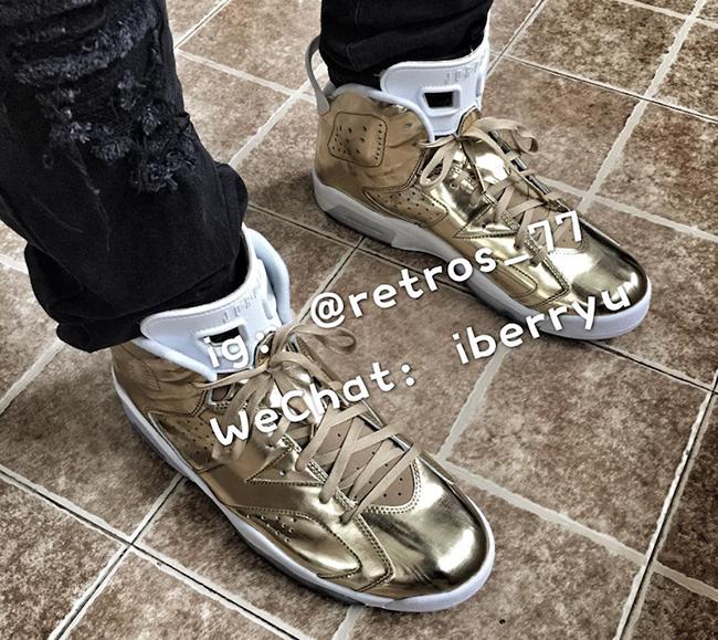 Metallic Gold Air Jordan 6