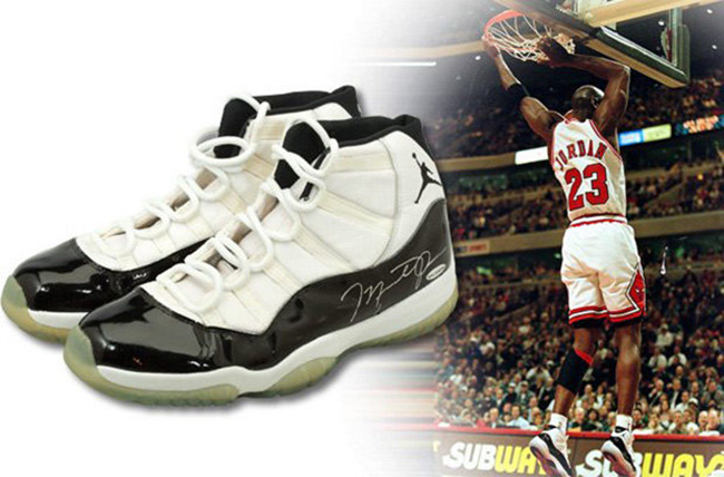 premium selection c158c 9ab00 Michael Jordan Air Jordan 11 Concord 72-10 Season Auction ...
