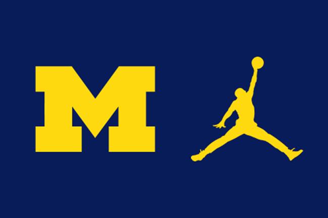 Michael Jordan Honorary Captain Michigan vs Hawaii