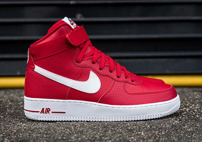 Tutte Le Alte Cime Nike Air Force 1 Rosso Per Le Donne LBTqoyuvE