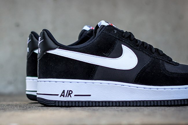 Nike Air Force 1 Bajo Ante Negro Porcelanosa Blanco VhaKmSw