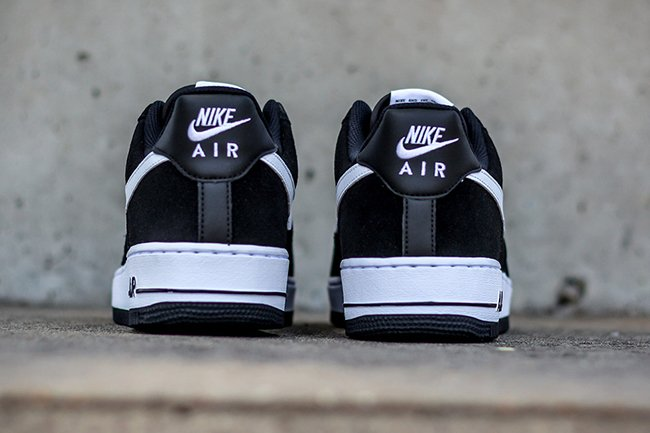 Nike Air Force 1 Low Suede Mesh Black White