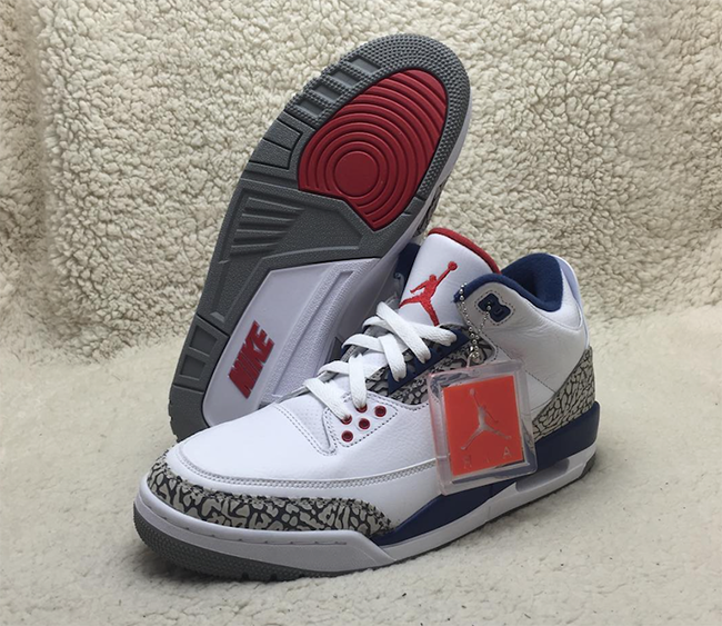 2ae21b824bd6c3 Nike Air Jordan 3 OG True Blue 2016