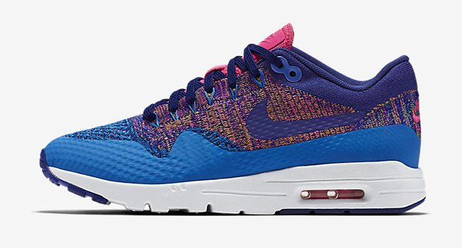 Nike Air Max 1 Ultra Flyknit Multicolor Blue Pink