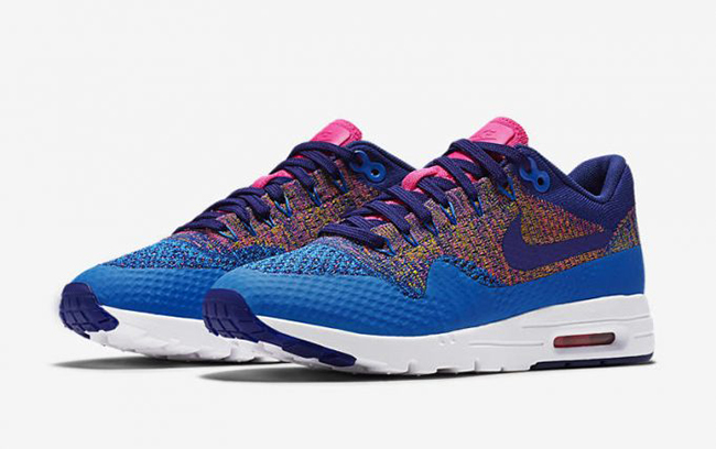 ce2689ab088 Nike Air Max 1 Ultra Flyknit Multicolor Blue Pink