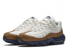 Nike Air Max 95 White Brown Canvas Leather