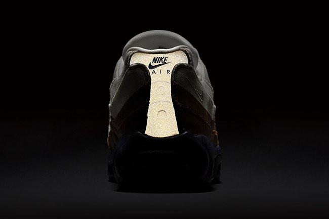 Nike Air Max 95 White Brown Canvas Leather