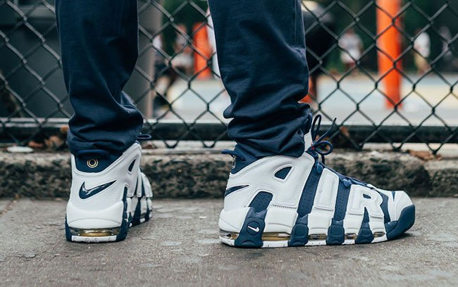 Nike Air More Uptempo Olympic On Feet