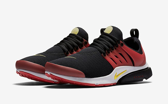 nike presto black and red