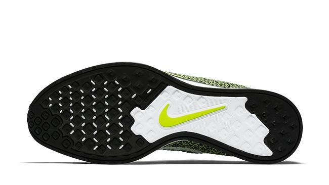Nike Flyknit Racer Volt Black White