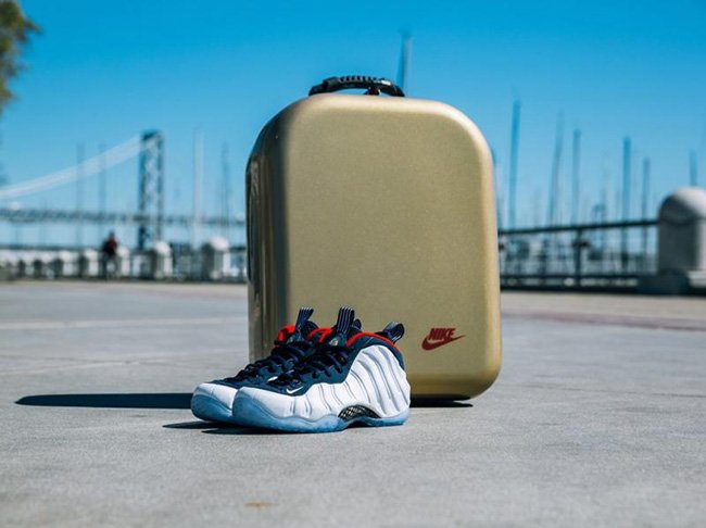 Nike Foamposite One Olympic Golden Air Packaging Box