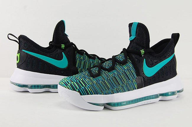 Nike KD 9 Birds of Paradise Black Clear Jade Review On Feet