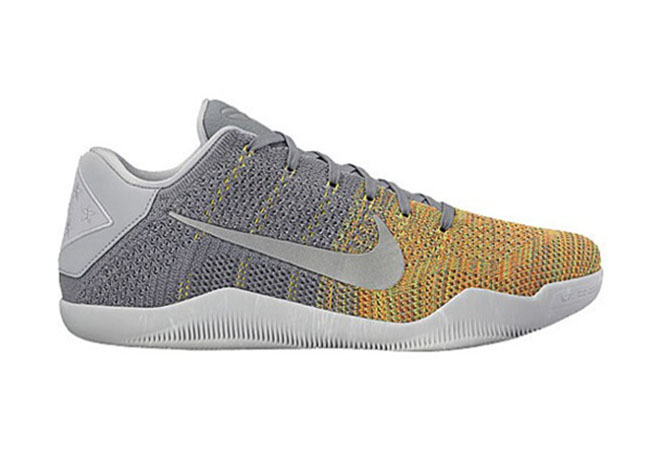 Nike Kobe 11 Elite Low Cool Grey Voltage Green Yellow Strike