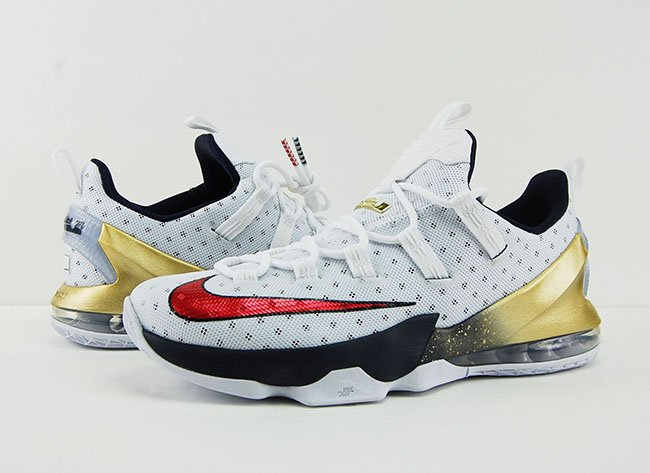 Nike LeBron 13 Low Olympic Gold Medal USA Review