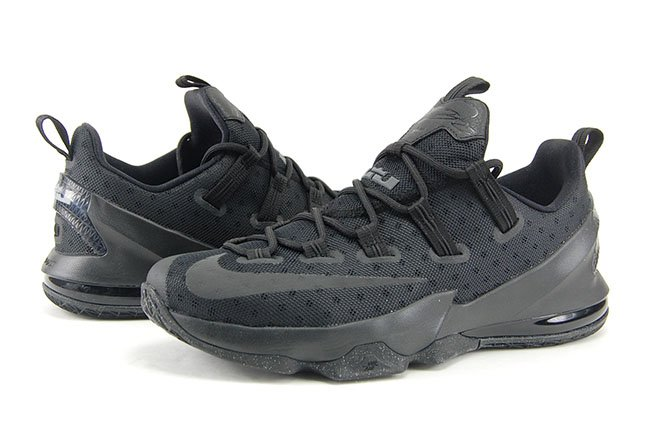 Nike LeBron 13 Low Triple Black 3M Review