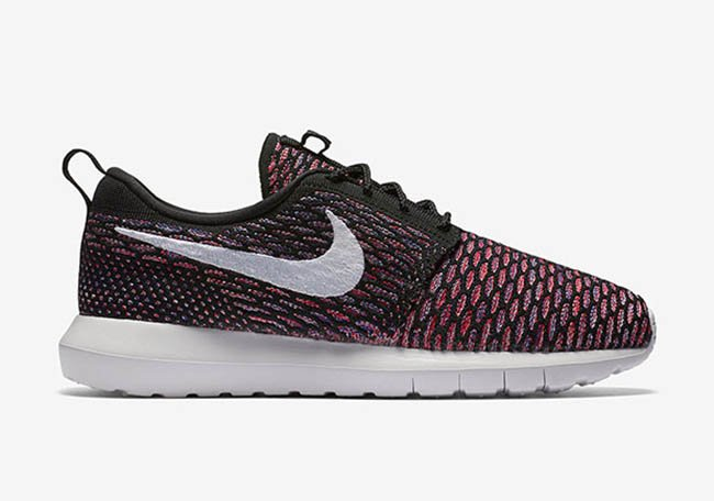 sneakers for cheap bfd3b 22a57 Nike Roshe Flyknit Multicolor Black Red Purple