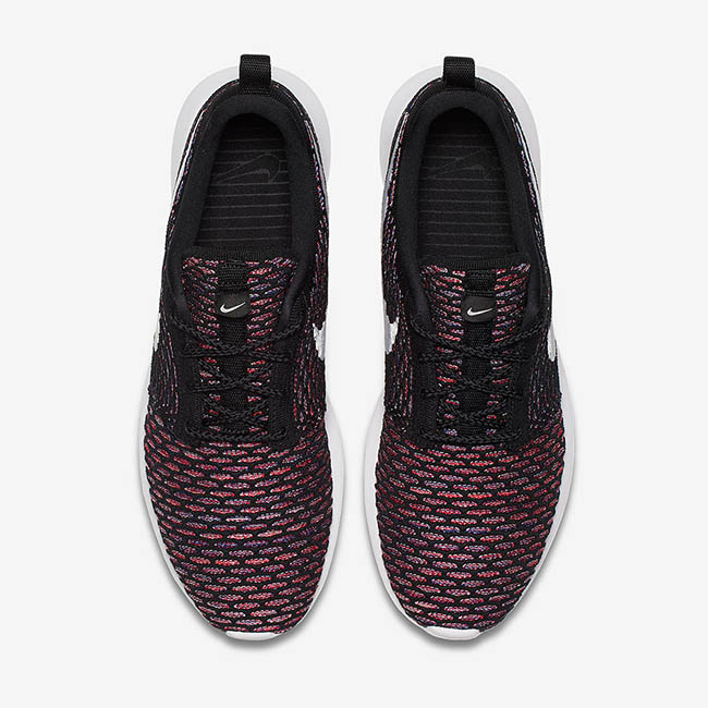 Nike Roshe Flyknit Multicolor Black Red Purple