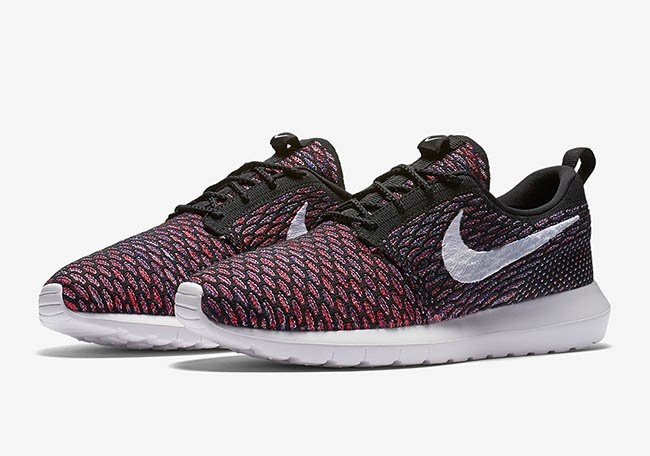 Nike Roshe Flyknit Multicolor Black Red Purple  3c4f733953e6