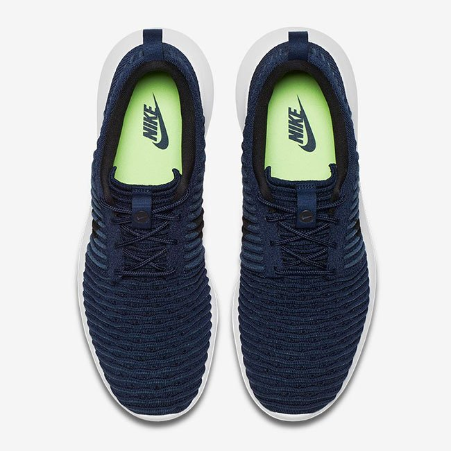 56acfc361163 Nike Roshe Two Flyknit College Navy