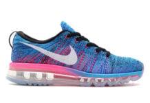 Nike WMNS Flyknit Air Max Blue Glow Pink Blast