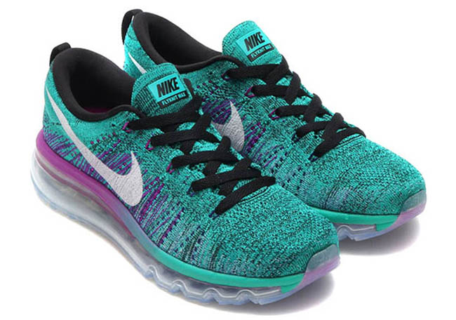 Nike WMNS Flyknit Air Max Clear Jade Hyper Violet